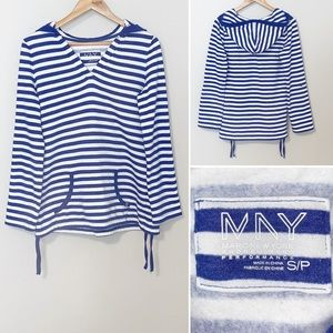 MNY Striped Hooded Sweatshirt - Sma…